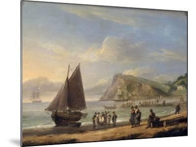 A View of Ness Point - Teignmouth, Devon, 1826-Thomas Luny-Mounted Giclee Print
