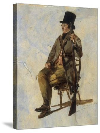 A Study of a Gamekeeper, 1834-Thomas Sidney Cooper-Stretched Canvas Print