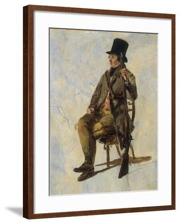 A Study of a Gamekeeper, 1834-Thomas Sidney Cooper-Framed Giclee Print