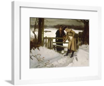 The Lovers Vow' (Scene c.1800)-William Holyoake-Framed Giclee Print