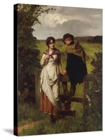 The Girl I left behind me, c.1880-William Holyoake-Stretched Canvas Print