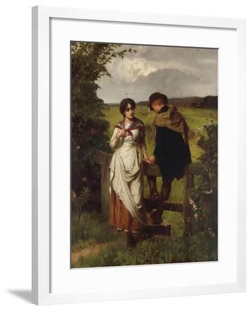 The Girl I left behind me, c.1880-William Holyoake-Framed Giclee Print