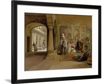 The Mahomedam Hareem, Delhi, 1864-William Simpson-Framed Giclee Print