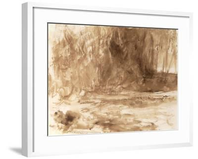 Study of the River Washburn, Yorkshire, c.1815-J^ M^ W^ Turner-Framed Giclee Print
