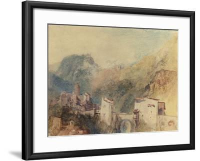 A Castle in the Val d'Aosta, Italy-J^ M^ W^ Turner-Framed Giclee Print