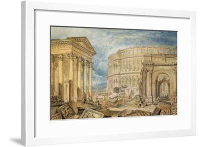 Antiquities of Pola, c.1818-J^ M^ W^ Turner-Framed Giclee Print