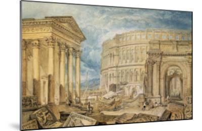 Antiquities of Pola, c.1818-J^ M^ W^ Turner-Mounted Giclee Print