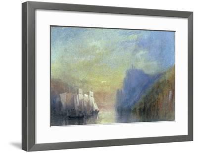 On the Rhine, c.1830-J^ M^ W^ Turner-Framed Giclee Print