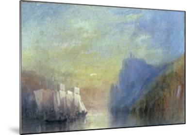 On the Rhine, c.1830-J^ M^ W^ Turner-Mounted Giclee Print