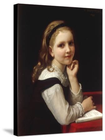 Jeune Ecoliere, 1868-William Adolphe Bouguereau-Stretched Canvas Print