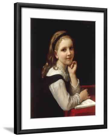 Jeune Ecoliere, 1868-William Adolphe Bouguereau-Framed Giclee Print