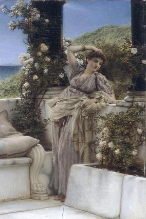 Thou Rose of all the Roses-Sir Lawrence Alma-Tadema-Stretched Canvas Print