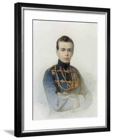 Portrait of Grand Duke Alexander Alexandrovich, Later Tsar Alexander III, 1861-Andrei Franzovich Belloli-Framed Giclee Print