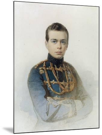 Portrait of Grand Duke Alexander Alexandrovich, Later Tsar Alexander III, 1861-Andrei Franzovich Belloli-Mounted Giclee Print