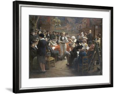 An Auction at the Hotel Drouot, Paris, 1921-Albert Bettannier-Framed Giclee Print