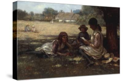 Reading in the Shadow-Kay William Blacklock-Stretched Canvas Print