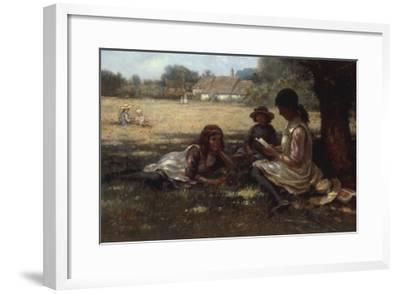 Reading in the Shadow-Kay William Blacklock-Framed Giclee Print