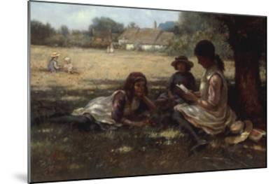 Reading in the Shadow-Kay William Blacklock-Mounted Giclee Print