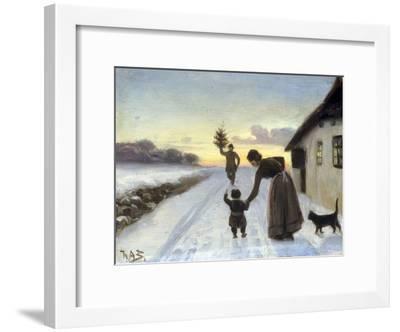 The Arrival of the Christmas Tree-Hans Anderson Brendekilde-Framed Giclee Print