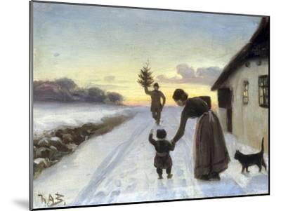 The Arrival of the Christmas Tree-Hans Anderson Brendekilde-Mounted Giclee Print