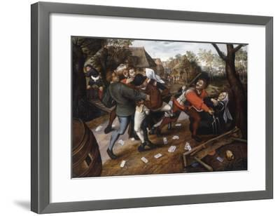 Gamblers Quarrelling-Pieter Brueghel the Younger-Framed Giclee Print