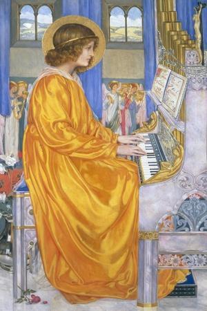 St Cecilia-Kate Elizabeth Bunce-Stretched Canvas Print