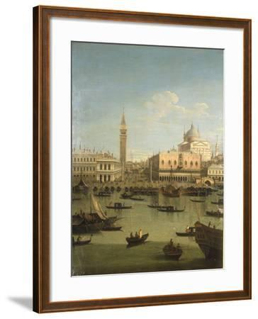A Capriccio View of the Piazzetta with the Church of Il Redentore-Canaletto-Framed Giclee Print