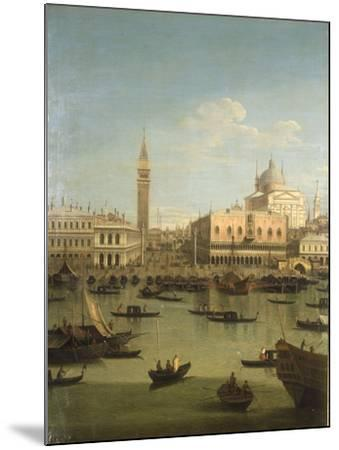 A Capriccio View of the Piazzetta with the Church of Il Redentore-Canaletto-Mounted Giclee Print