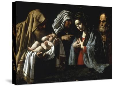 The Presentation in the Temple-Caravaggio-Stretched Canvas Print