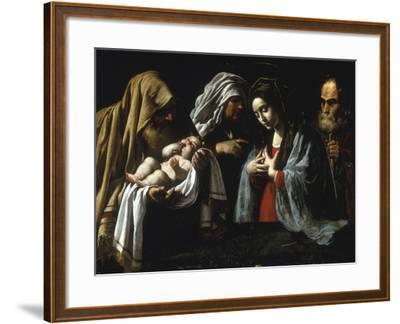 The Presentation in the Temple-Caravaggio-Framed Giclee Print