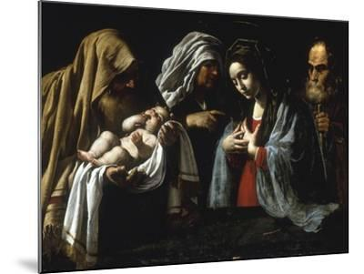 The Presentation in the Temple-Caravaggio-Mounted Giclee Print