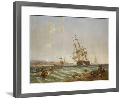 The Great Harbour of Malta from Corlandine Point, 1854-James Wilson Carmichael-Framed Giclee Print