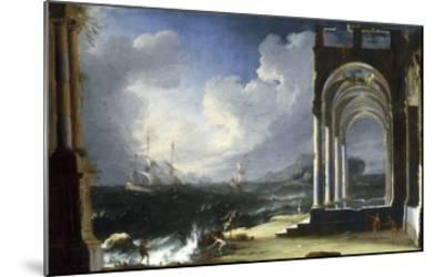 A Capriccio View with Classical Ruins by the Sea-Leonardo Coccorante-Mounted Giclee Print