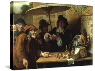 Peasants Listening to a Quack Doctor, 1668-Lambert Doomer-Stretched Canvas Print