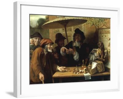 Peasants Listening to a Quack Doctor, 1668-Lambert Doomer-Framed Giclee Print