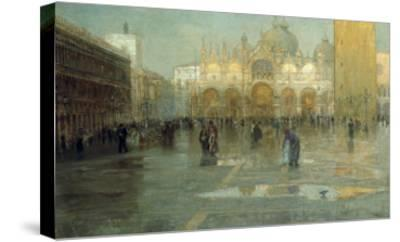 Piazza San Marco after the Rain, Venice, 1914-Pietro Fragiacomo-Stretched Canvas Print