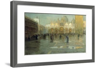 Piazza San Marco after the Rain, Venice, 1914-Pietro Fragiacomo-Framed Giclee Print