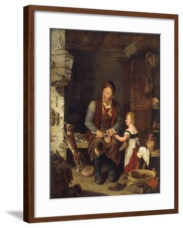 The Cobbler, 1839-Alexander Fraser-Framed Giclee Print