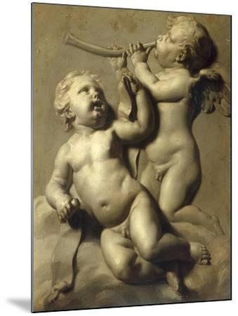 Two Putti Making Music-Marten Jozef Geeraerts-Mounted Giclee Print