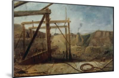 Construction of Seaham Harbour, 1830-Robert Mackreth-Mounted Giclee Print