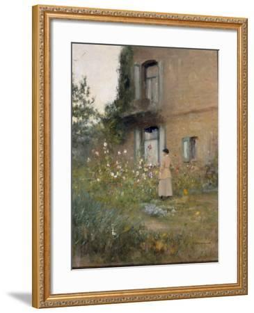 In the Garden-Ivan Pavlovich Pochitonov-Framed Giclee Print
