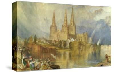 Lichfield, Staffordshire, c.1830-35-J^ M^ W^ Turner-Stretched Canvas Print