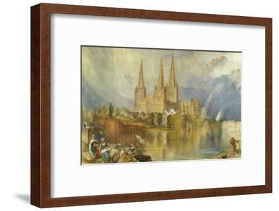 Lichfield, Staffordshire, c.1830-35-J^ M^ W^ Turner-Framed Giclee Print