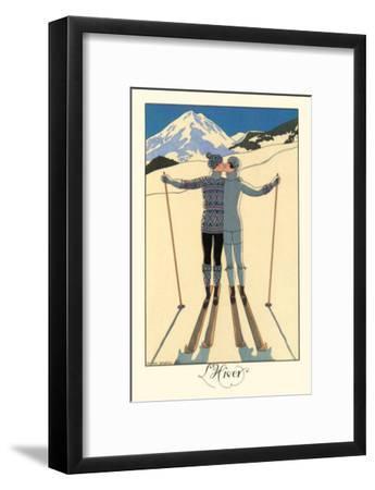 L'Hiver-Georges Barbier-Framed Premium Giclee Print