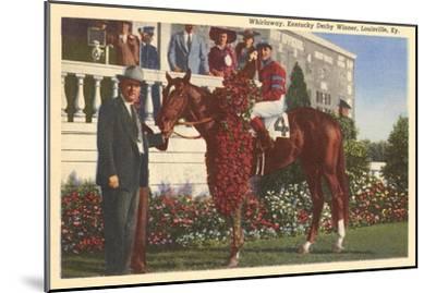 Whirlaway, Kentucky Derby Winner--Mounted Art Print