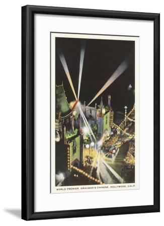 Night, Movie Premiere, Grauman's, Hollywood, California--Framed Art Print