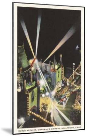 Night, Movie Premiere, Grauman's, Hollywood, California--Mounted Art Print