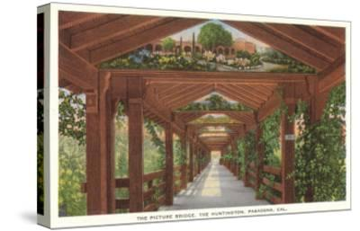 Huntington Library Grounds, San Marino, California--Stretched Canvas Print