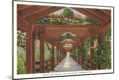 Huntington Library Grounds, San Marino, California--Mounted Art Print