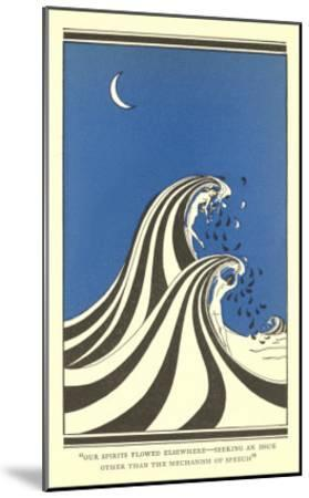 Art Deco Lovers in Waves--Mounted Art Print